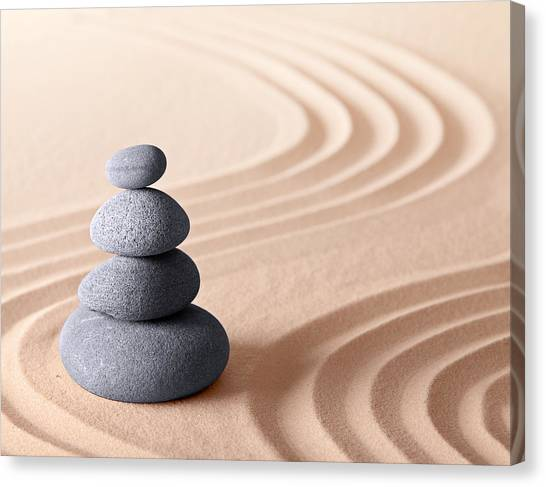 Japanese Zen Meditation Garden Canvas Print
