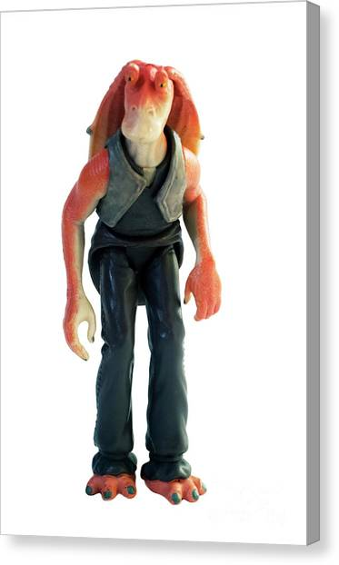 Jar Jar Binks Canvas Print - Jar Jar Star Wars Action Figure by Humorous Quotes : jar jar binks halloween costume  - Germanpascual.Com