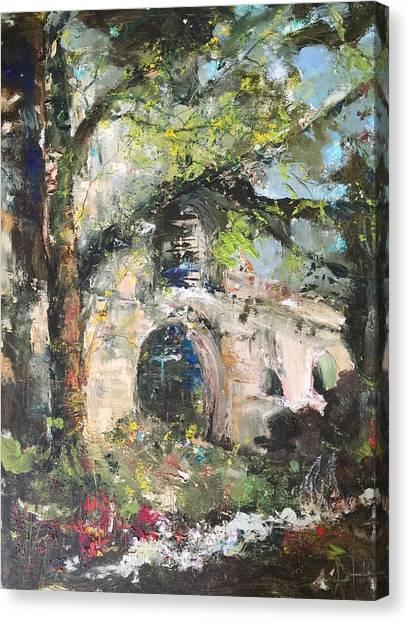 Jardin D'au Paradis  Canvas Print