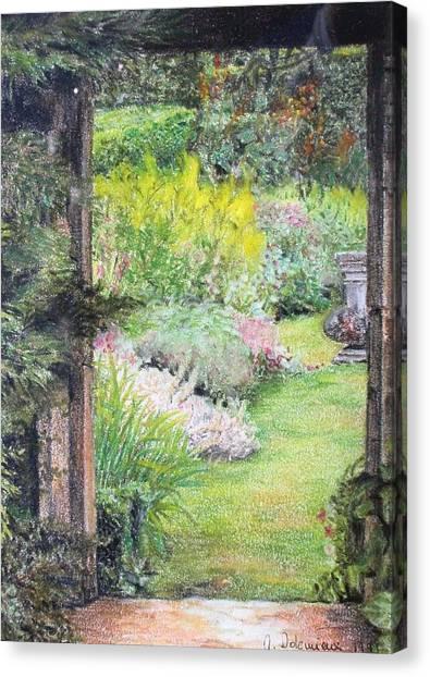 Jardin Canvas Print by Muriel Dolemieux
