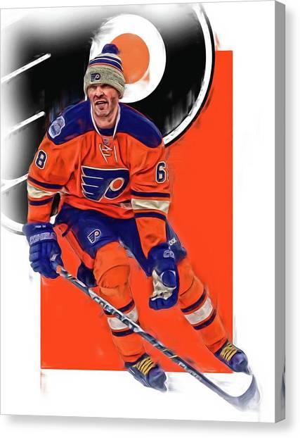 Philadelphia Flyers Canvas Print - Jaromir Jagr Philadelphia Flyers Oil Art Series 2 by Joe Hamilton