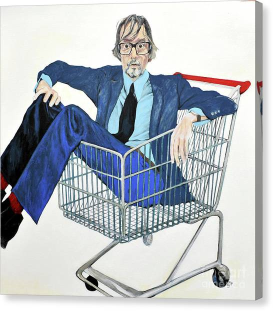 Jarvis Cocker 'off Yer Trolley' Canvas Print