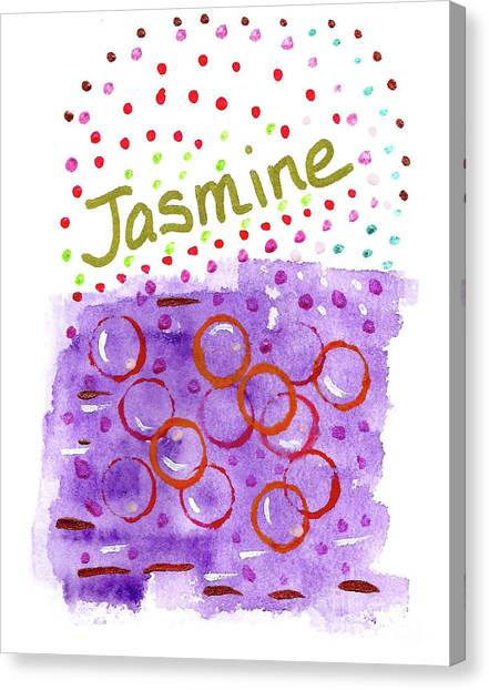Canvas Print featuring the painting Jasmine 3 by Corinne Carroll