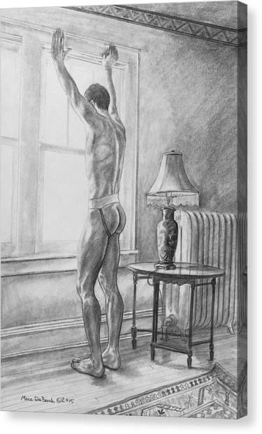 Jason At The Window Canvas Print