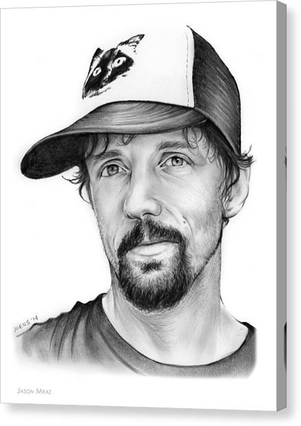 Coffee Shops Canvas Print - Jason Mraz by Greg Joens