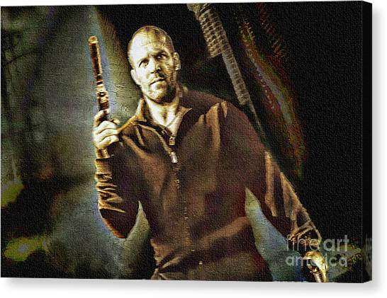 Jason Statham - Actor Painting Canvas Print