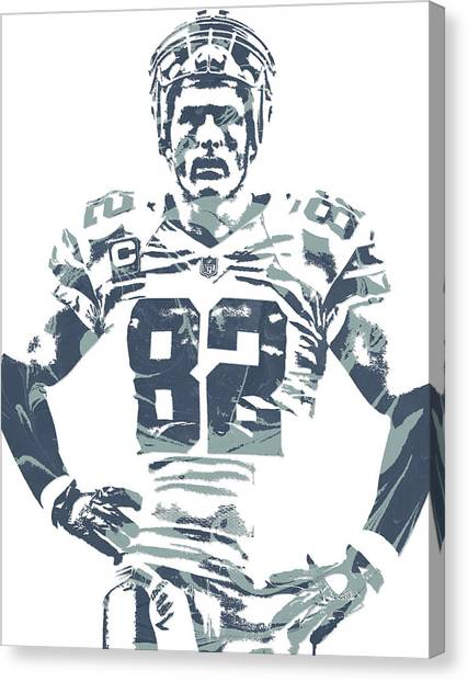 Dallas Cowboys Canvas Print - Jason Witten Dallas Cowboys Pixel Art by Joe Hamilton