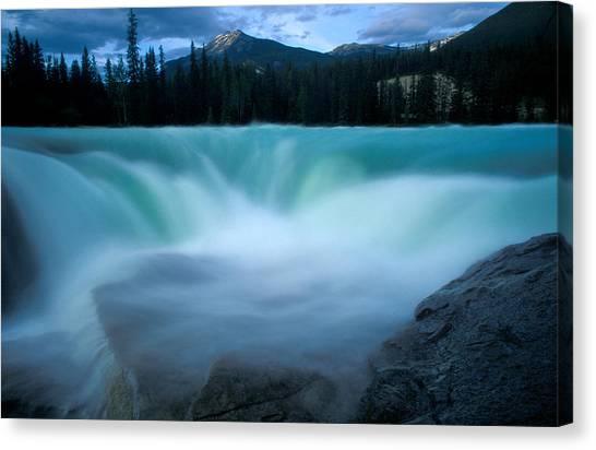 Jasper - Athabasca Falls 2 Canvas Print