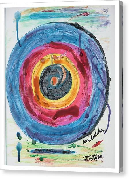 Jasper Johns Canvas Print - Jasper Johns Flight Delay Number 5 by Kevin Callahan