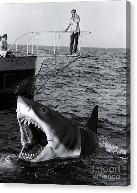 Jaws Canvas Print - Jaws - 1975 by The Titanic Project