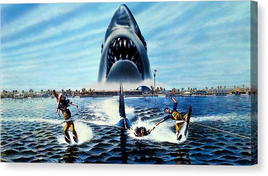 Satellite Canvas Print - Jaws 3 by Maye Loeser