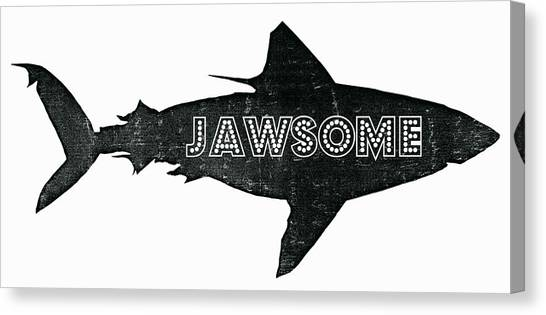 Shark Canvas Print - Jawsome by Michelle Calkins