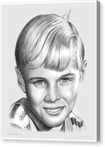 50s Canvas Print - Jay North by Greg Joens