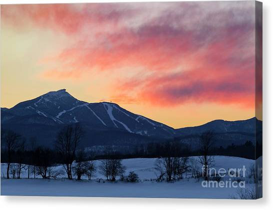 Jay Peak Winter Twilight Canvas Print