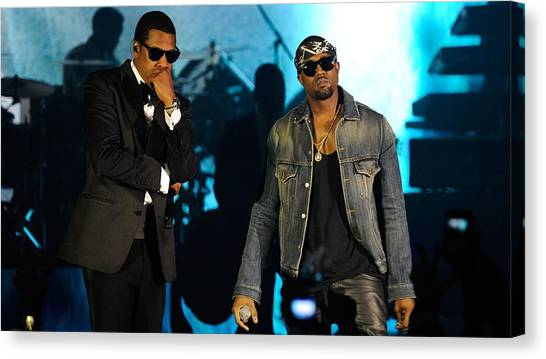 Jay Z Canvas Print - Jay-z And Kanye West by Super Lovely