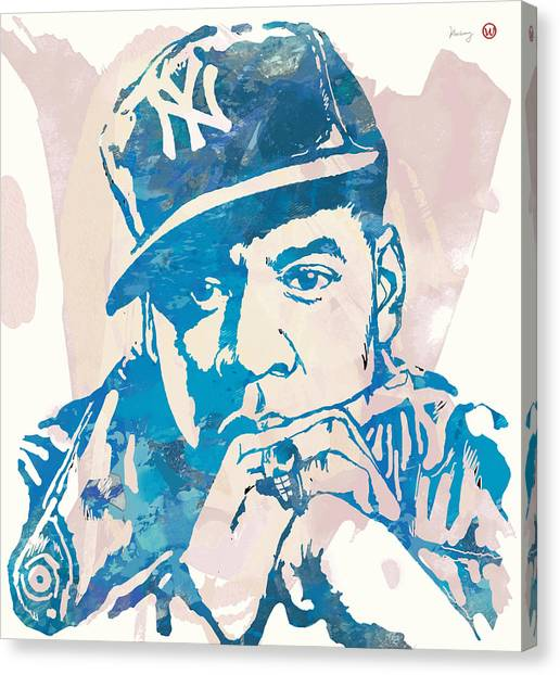 Jay Z Canvas Print - Jay-z  Etching Pop Art Poster by Kim Wang