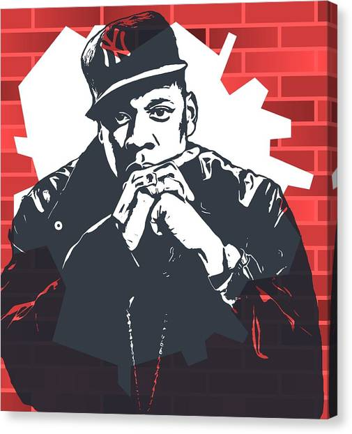Jay Z Canvas Print - Jay Z Graffiti Tribute by Dan Sproul