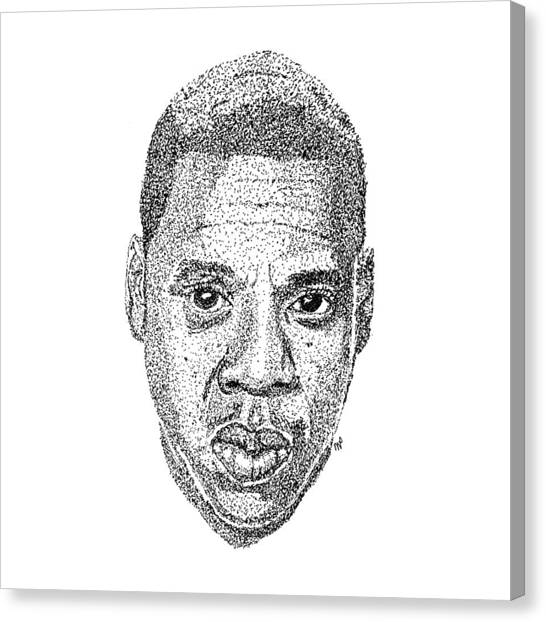 Brooklyn Nets Canvas Print - Jay Z by Marcus Price