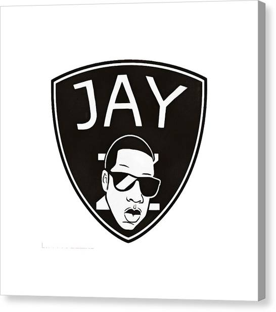 Brooklyn Nets Canvas Print - Jay-z by Rabvy Alfonso
