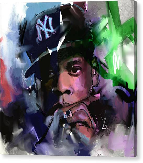 Jay Z Canvas Print - Jay Z by Richard Day