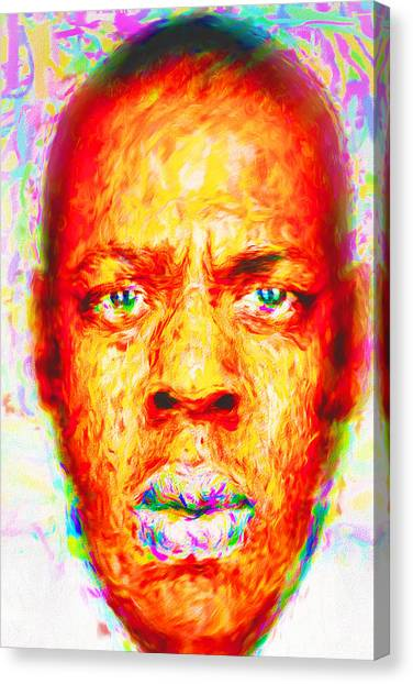 Brooklyn Nets Canvas Print - Jay-z Shawn Carter Digitally Painted by David Haskett