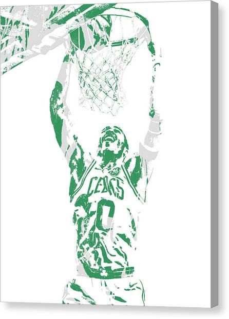 Boston Celtics Canvas Print - Jayson Tatum Boston Celtics Pixel Art 10 by Joe Hamilton