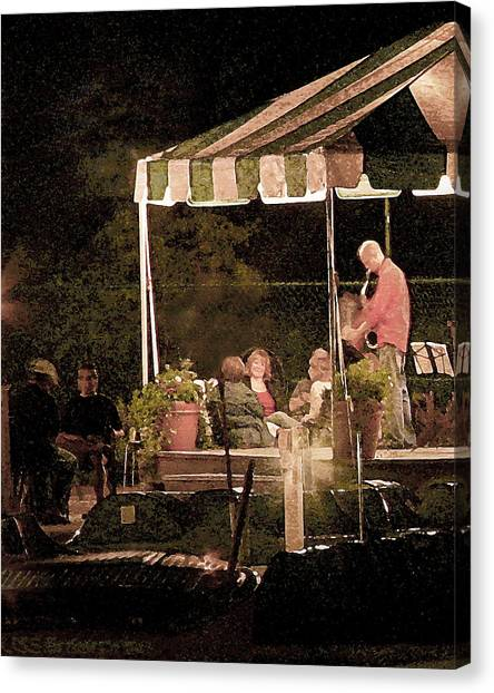 Jazz At The Boathouse Subdued Canvas Print