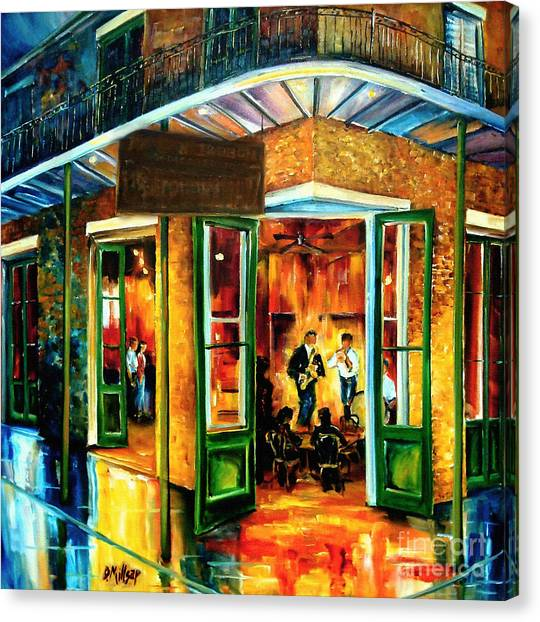 Clubs Canvas Print - Jazz At The Maison Bourbon by Diane Millsap