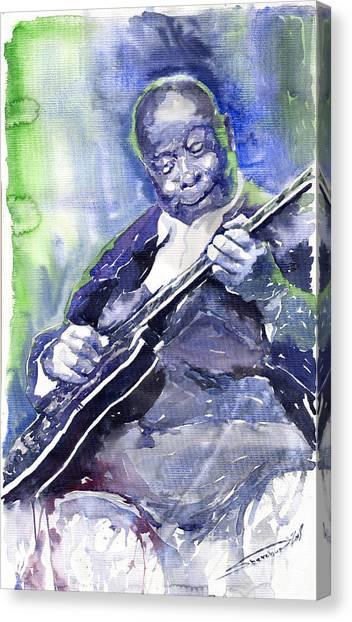 Jazz Canvas Print - Jazz B B King 02 by Yuriy Shevchuk