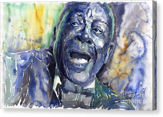 Kings Canvas Print - Jazz B.b.king 04 Blue by Yuriy Shevchuk