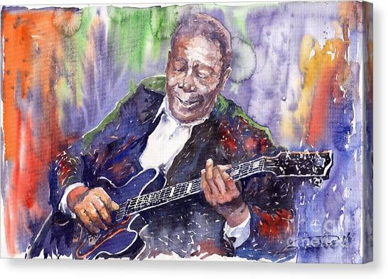 Kings Canvas Print - Jazz B B King 06 by Yuriy Shevchuk