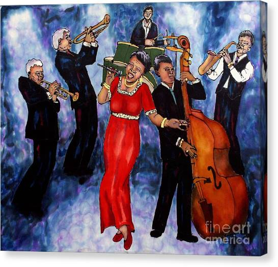 Jazz Band Canvas Print by Linda Marcille