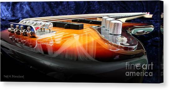 Guitar Canvas Print - Jazz Bass Beauty by Todd Blanchard