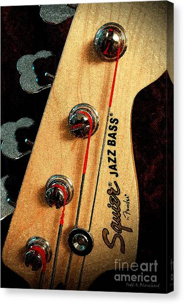 Jazz Bass Headstock Canvas Print