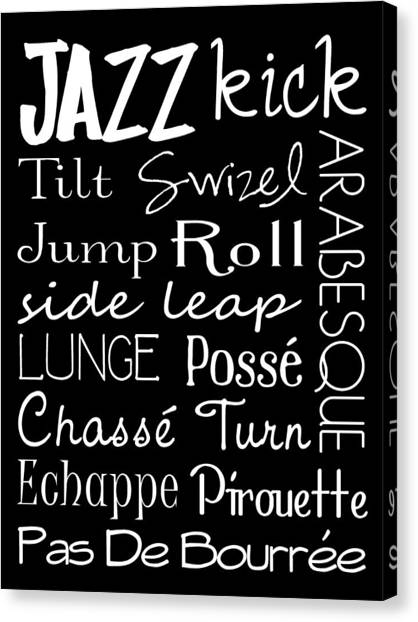 Jazz Dance Subway Art  Poster Canvas Print