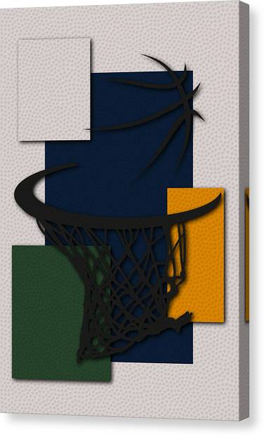 Utah Jazz Canvas Print - Jazz Hoop by Joe Hamilton