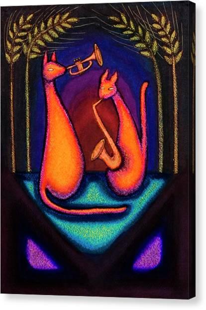 Jazz Kats Canvas Print
