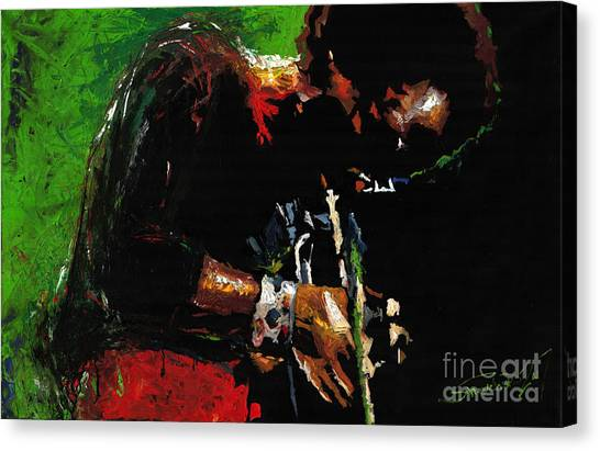 Miles Davis Canvas Print - Jazz Miles Davis 1 by Yuriy Shevchuk