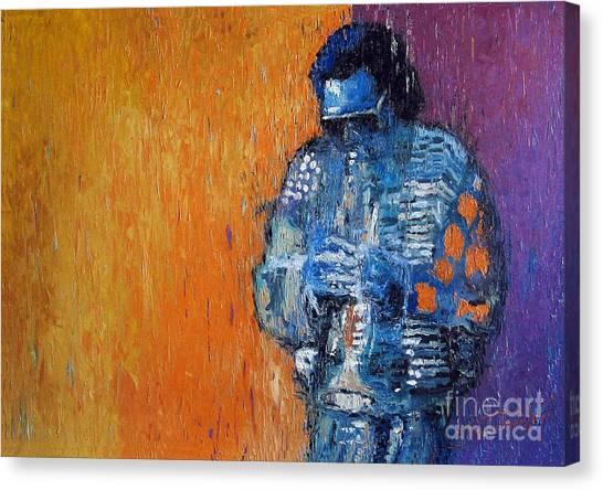 Miles Davis Canvas Print - Jazz Miles Davis 2 by Yuriy Shevchuk