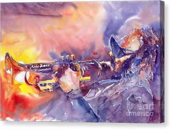 Miles Davis Canvas Print - Jazz Miles Davis Electric 1 by Yuriy Shevchuk