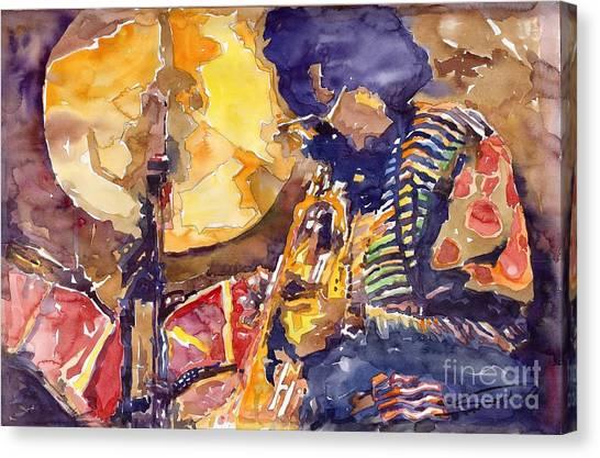Miles Davis Canvas Print - Jazz Miles Davis Electric 2 by Yuriy Shevchuk