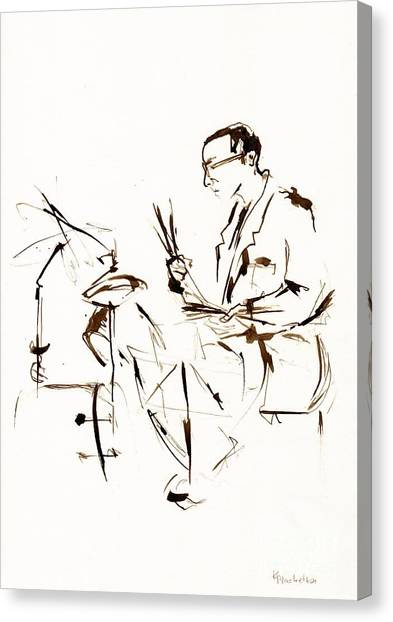 Fineart Canvas Print - Jazz Musician_11 by Karina Plachetka