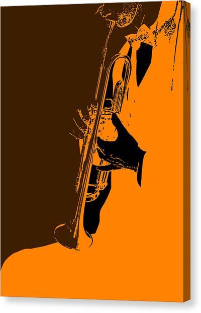 Wind Instruments Canvas Print - Jazz by Naxart Studio