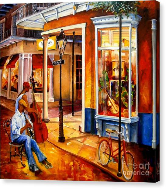 Post-impressionism Canvas Print - Jazz On Royal Street by Diane Millsap