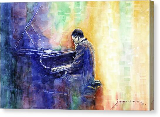 Supplies Canvas Print - Jazz Pianist Herbie Hancock  by Yuriy Shevchuk