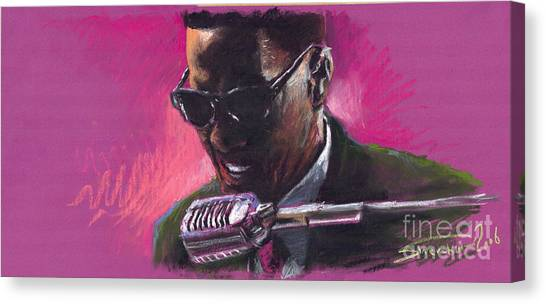 Jazz Canvas Print - Jazz. Ray Charles.1. by Yuriy Shevchuk