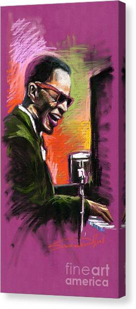 Jazz Canvas Print - Jazz. Ray Charles.2. by Yuriy Shevchuk