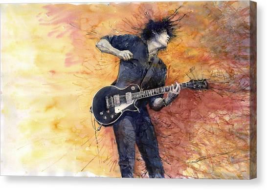 Canvas Print - Jazz Rock Guitarist Stone Temple Pilots by Yuriy Shevchuk