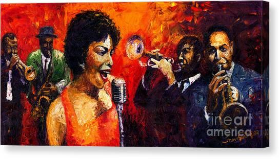 Jazz Canvas Print - Jazz Song by Yuriy Shevchuk