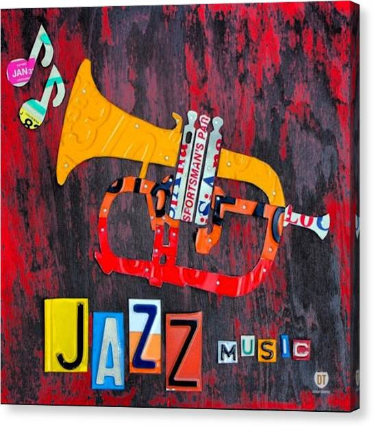 Jazz Canvas Print - #jazz #trumpet #original #louisiana by Design Turnpike